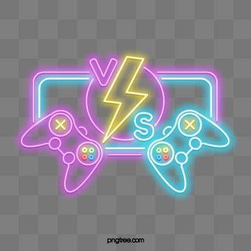 Placa De Madeira Game Logo Neon Png Neon Logo