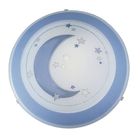 The Speedy Flush is a magical ceiling light featuring a moon and stars design suited to a child's bedroom.