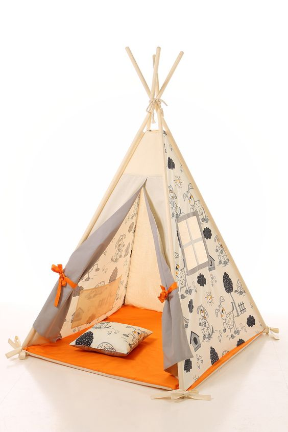 tipi enfants jouer wigwam tente tipi pour enfants tipi tente jeu tipi tipi b b. Black Bedroom Furniture Sets. Home Design Ideas