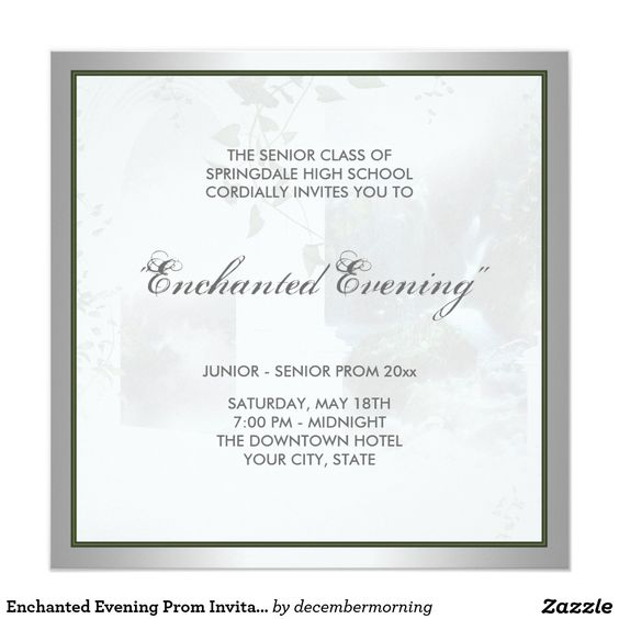 Enchanted Evening Prom Invitation Template – Prom Invitation Templates