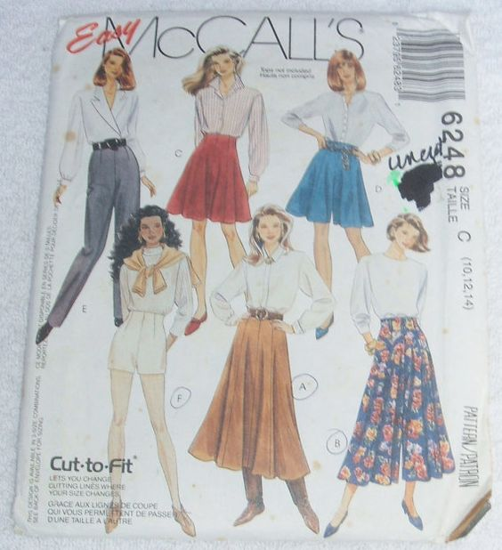 Sewing Pattern Easy McCalls 6248 Uncut Misses Skirt by ManHoard