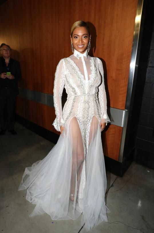 Beyonce knowles wearing inbal dror fall 2016 crochet for Beyonce wedding dress pictures