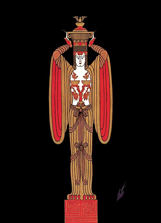 Gift Bearer Aladdin Art Deco by Erte