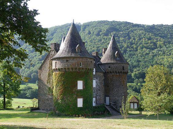 Château de Longuevergne à Anglards de Salers, Cantal, Auvergne ~ by wally52, via Flickr