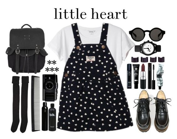 """little heart"" by tickling ❤ liked on Polyvore featuring Monki, Jean-Paul Gaultier, OshKosh B'gosh, Will Leather Goods, Maison Margiela, Koh Gen Do, blacklUp, Aesop, T3 and Oribe"
