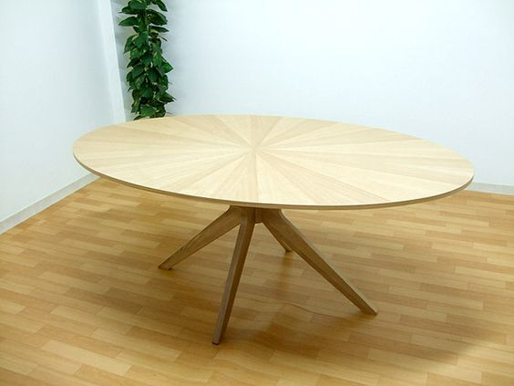 北欧 楕円オーク190ダイニングテーブルorionナチュラル色光線張り1 ¥39400円 〆03月16日