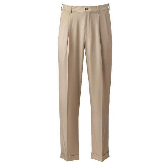 Men's Grand Slam Performance Easy-Care Double-Pleated Golf Pants, Size: