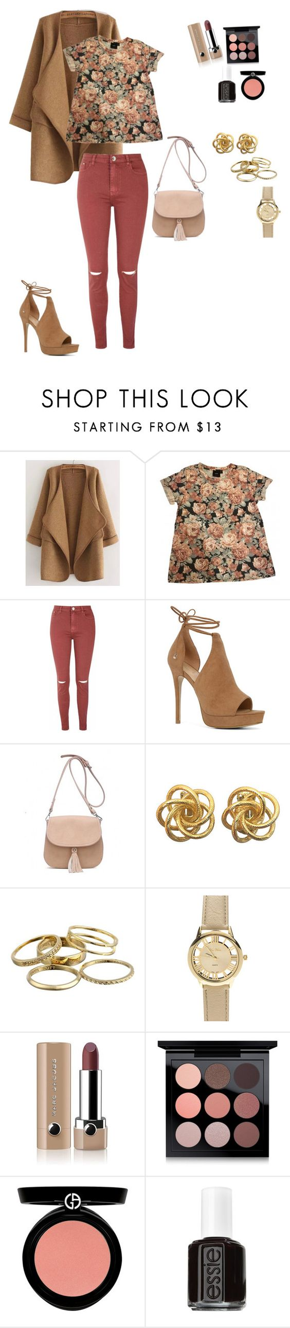 """"" by nara96 ❤ liked on Polyvore featuring WithChic, ASOS, Glamorous, ALDO, Kendra Scott, Marc Jacobs, MAC Cosmetics, Armani Beauty, Essie and chic"