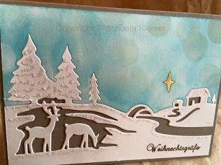 Manu´s Hobbytreff: Anleitung zur Stanze Christmas Scene