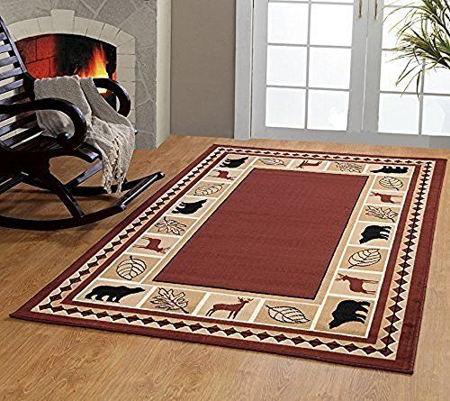 Rugs Home Furnishmyplace Wildlife Bear Moose Rustic Lodge Cabin