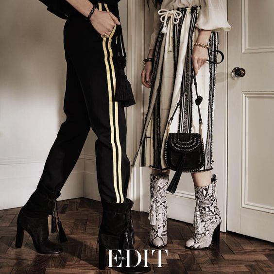 "NET-A-PORTER on Instagram: ""Fall's chicest accessories come with tassels as standard. New season style made easy. Boots, trousers and skirt by #Lanvin, bag by #chloe. Shop now at #NETAPORTER #THEEDIT #SeeitLoveitBuyit"""