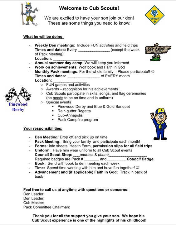Akelau0027s Council Cub Scout Leader Training Parent Orientation - sample bsa medical form