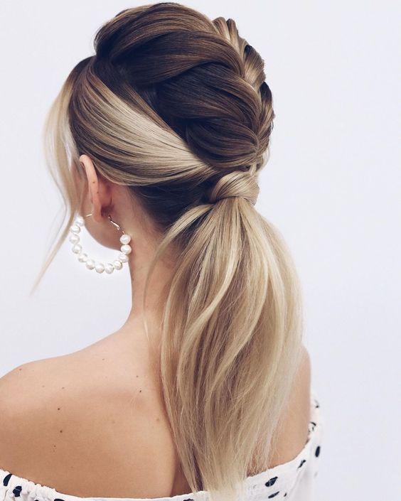 penteados para madrinha tranças atraentes