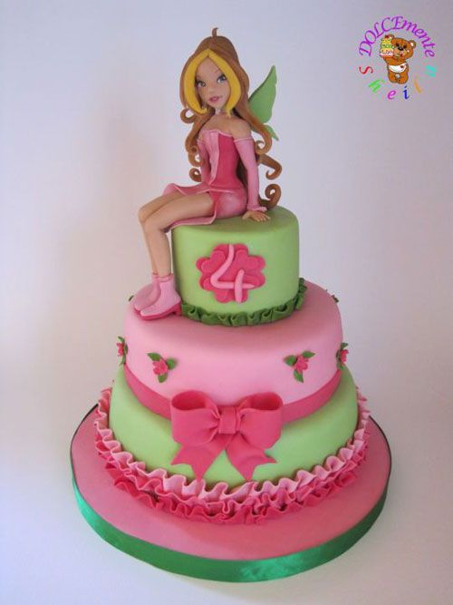 Torta-Winx_01.jpg (500×667)  Happy birthday Bambini  Pinterest