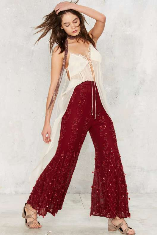 Vintage Just Bead It Bell Bottom Pants