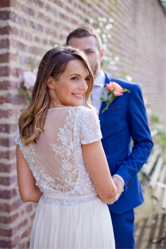 Bright & Colourful London wedding   ||  Gown: 'Kayla' by Karen Willis Holmes ||  Photo: Emma Sekhon | | Follow @KWHBridal
