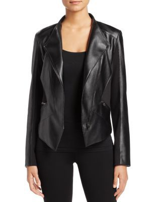 T Tahari Oriana Faux Leather Jacket | Bloomingdale's