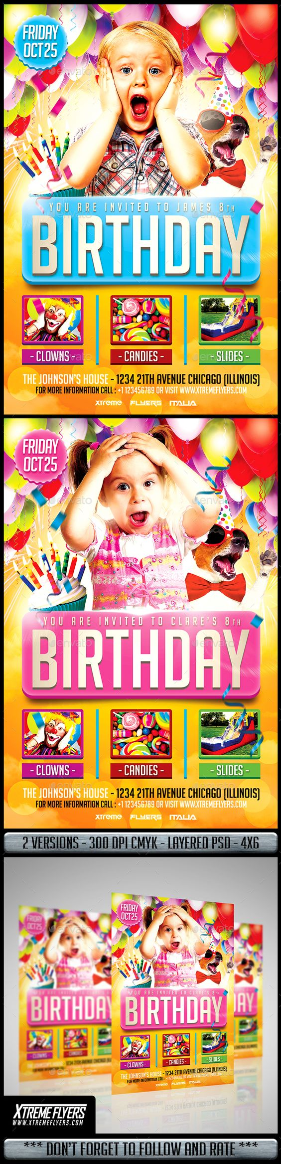 kids birthday party flyer kid flyer template and birthdays kids birthday party flyer clubs parties events flyer template businessflyer