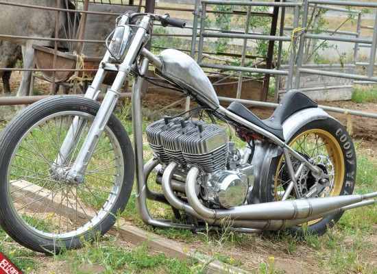 Slim Fab Kawasaki 2-stroke triple chopper