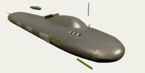 Sub 2000, as seen in Undersea Warfare magazine. U.S. NAVY