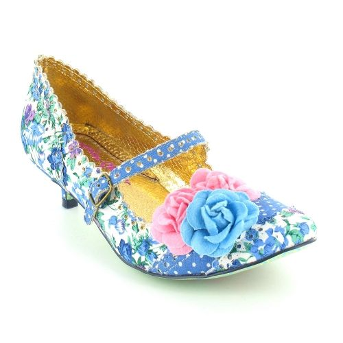 Irregular Choice Daisy Dayz 2654-64F Womens Floral Kitten Heel ...