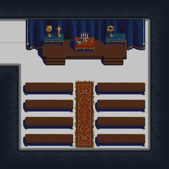 Pixel art chapel for Prisonscape. #screenshotsaturday #indiegame