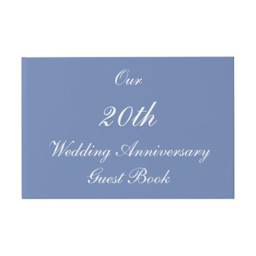Simple Our 20th Wedding Anniversary Guest Book Guest Book 20 Wedding Anniversary Wedding Guest Book Guest Book