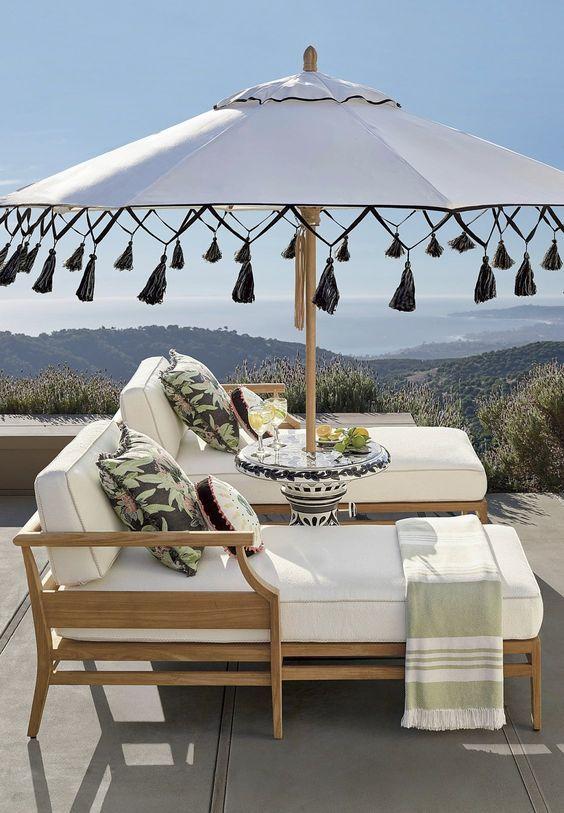 Beach Pretty House Style The Coolest Sun Umbrellas In Your Beach Town Outdoor Rooms Patio Umbrellas Patio Decor
