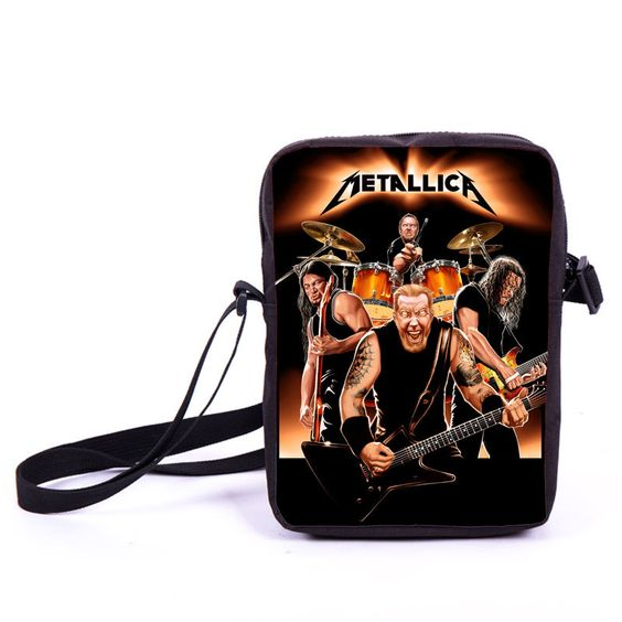 Rock Band The Beatles / ACDC / Guns N' Roses / Metallica Nirvana Iron Maiden Led Zeppelin Mini Messenger Bag Men Women Daily Bag
