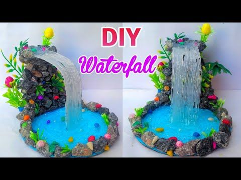 Diy Hot Glue Waterfall How To Make Hot Glue Waterfall With Rock Best Reuse Of Waste Rocks Mini Craft Youtube