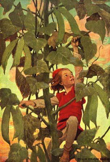 Jack and The Beanstalk.  Jessie Willcox Smith (1863 – 1935, American)