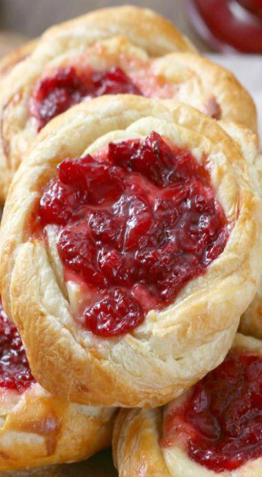 Strawberries and Cream Danish