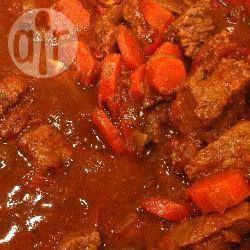 Photo de recette : Mijotée de boeuf aux carottes, tomates et champignons