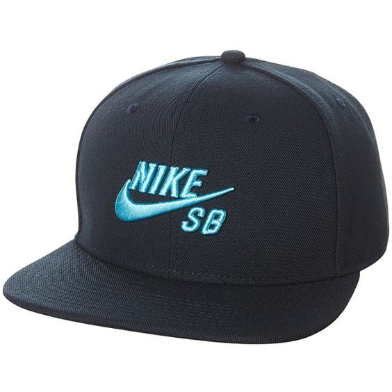 Nike Sb Icon Snapback Cap ($26) ❤ liked on Polyvore featuring men's fashion, men's accessories, men's hats, accessories, mens caps, snapback caps, mens caps and hats, mens snapbacks, mens blue fedora hat and mens flat caps