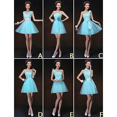 Homecoming Mix & Match Dresses Short/Mini 6 Styles Bridesmaid Dresses – USD $ 29.99