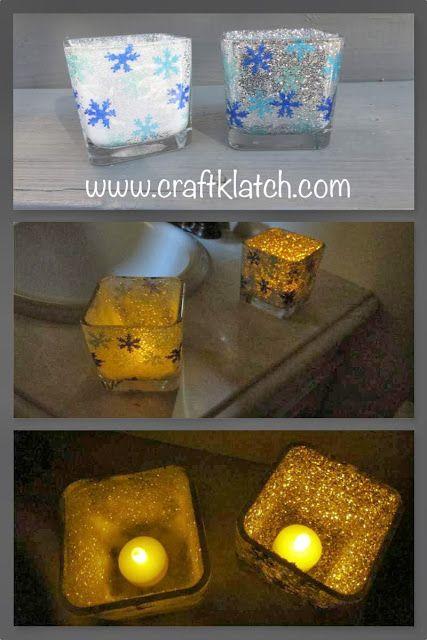 Craft Klatch: Snowflake Glitter Votives Craft