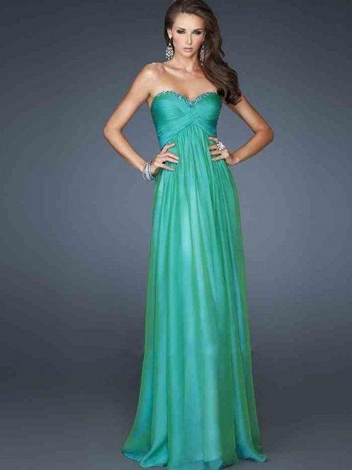 A-Linie/Princess-Stil Herz-Ausschnitt Chiffon Bodenlange Abendkleider