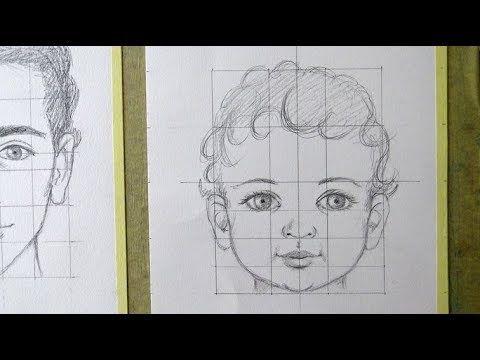 Como Dibujar Una Cara De Nino Proporciones Del Rostro Humano Youtube Dibujos De Caras Como Dibujar Una Cara Como Dibujar Rostros Humanos