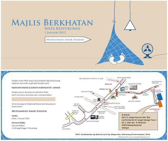 Image Result For Cara Buat Kad Jemputan Kenduri Kesyukuran Cara Chart Map
