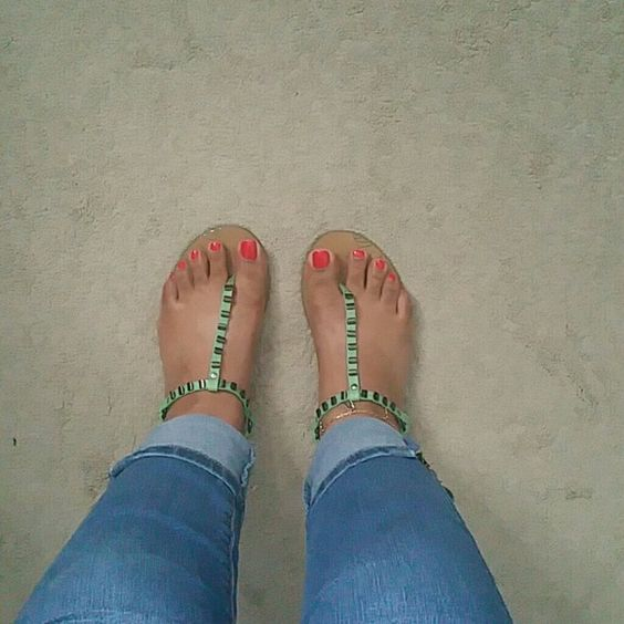 "Mint Green/Black Studded Sandals **""I'm ready to go and let these toes play in the sand"" --Brand is Yellowbox --Size is 5.5  --Adjustable straps --Color is like a mint green with black studs  --Measures 9"" across the sole  **No trades** **Feel free to ask questions** **To make an offer use the offer button**  **Have an amazing day! Yellowbox Shoes Sandals"