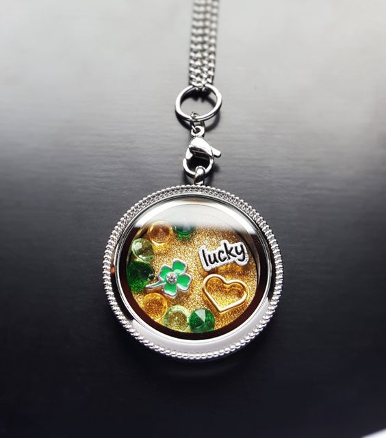 St. Patrick's Day Floating Locket Necklace Set-13 Pieces-Gift Ideas for Women