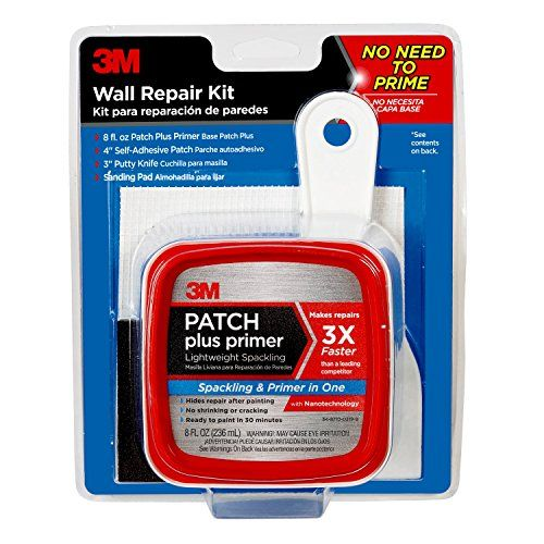 3m Patch Plus Primer Kit With 8fluid Ounce Selfadhesive Patch Putty Knife And Sanding Pad Want To Know More How To Patch Drywall Drywall Repair Putty Knives