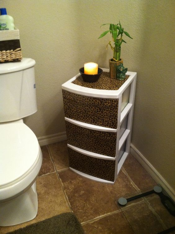 Bathrooms decor storage bins and good ideas on pinterest - Plastic bathroom storage containers ...