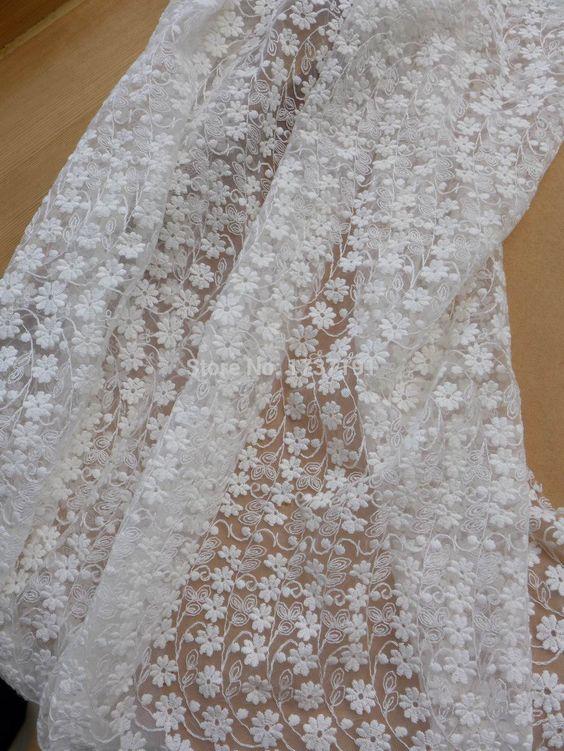 Ivoor geborduurde tule stof, Katoen daisy bloemen kant stof, Ivoor bridal dress lace gordijnen draperen stof aanbod in Post functie:Materiaal van dit artikel: kant, katoen, meshIvoor geborduurde tule stof, katoenen kant stof daisy bloemen, van stof op AliExpress.com   Alibaba Groep