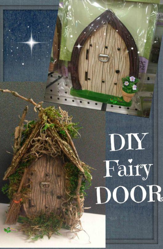 Beautiful diy fairy door just add some moss and wooden for Homemade elf door