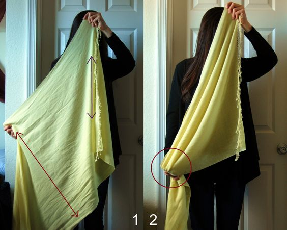 how to wear a large infinity scarf