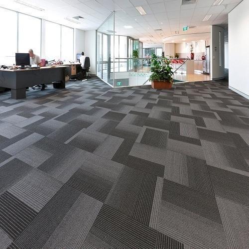 Office Carpet Floor Tiles Forbo Black Porcelain Modern Office