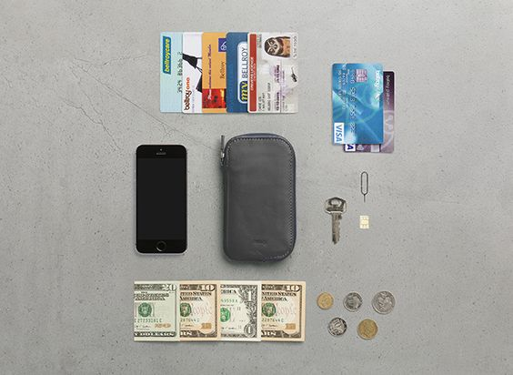 Bellroy Elements Phone Pocket for iPhone 5. Now available in Slate at bellroy.com