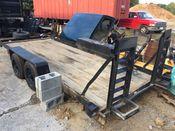 brown black flatbed trailer