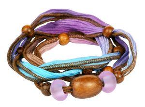 Caribbean Driftwood Convertible Silk Ribbon Necklace/Bracelet